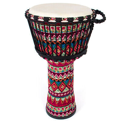 AKLOT Djembe African Drum 10 Inch Red Goat Skin Drum Head
