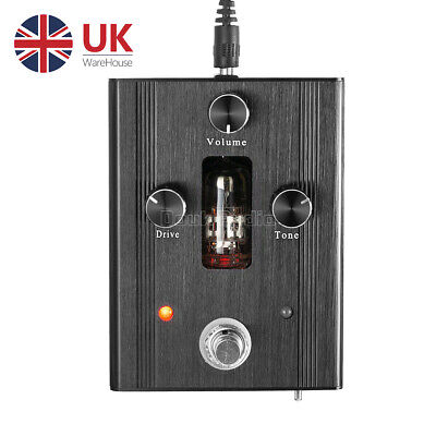 Mini Valve Tube Guitar Effects Pedals Bass Overdrive DRIVE Gain Pedal Stomp