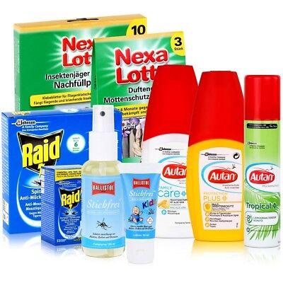 Insektenschutz gegen Mücken, Zecken, Stechfliegen, Motten, Ameisen, Silberfische