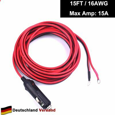 CoCar 1.2M 4FT DC hohl Stecker Verl/ängerungskabel Raw Cable Adapter 2.1x5.5mm f/ür Autoparksysteme Strom R/ückfahrkamera Monitor CCTV LED Leiste Streifen