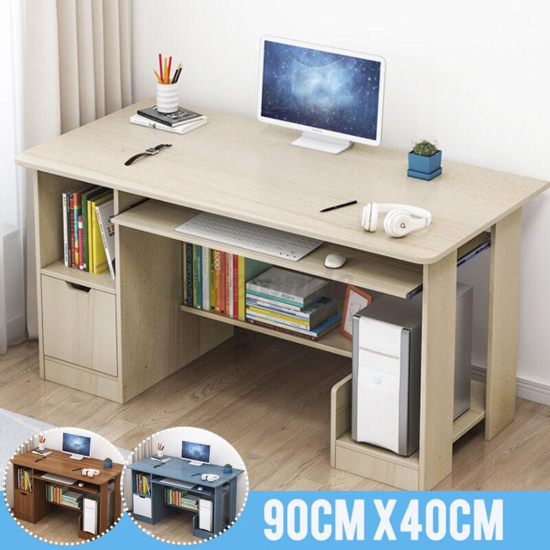 Student Writing Table Dorm Computer Desk Laptop Office Shelving Drawer Furniture