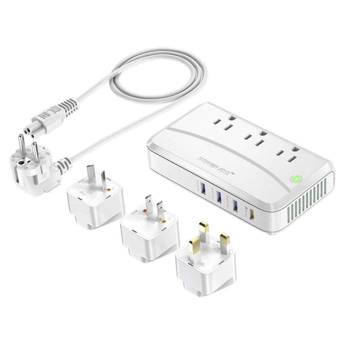Poweradd 220V to 110V Travel Voltage Converter Adapter Inter