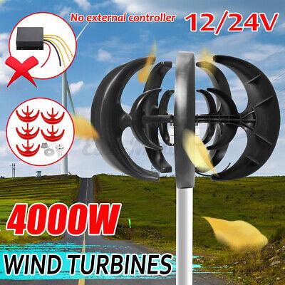 4000W 12V/24V 5 Blades Wind Turbine Generator Lantern Vertical Axis Clean