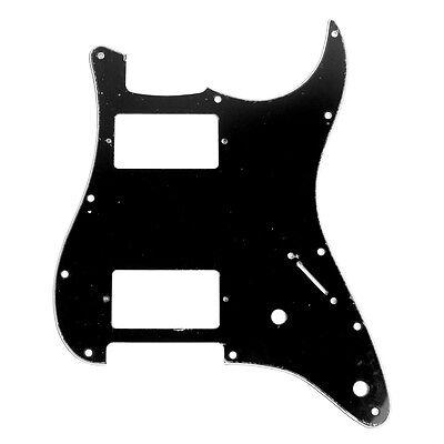Custom Strat style HH Layout Guitar Pickguard 2-control ,3ply Black