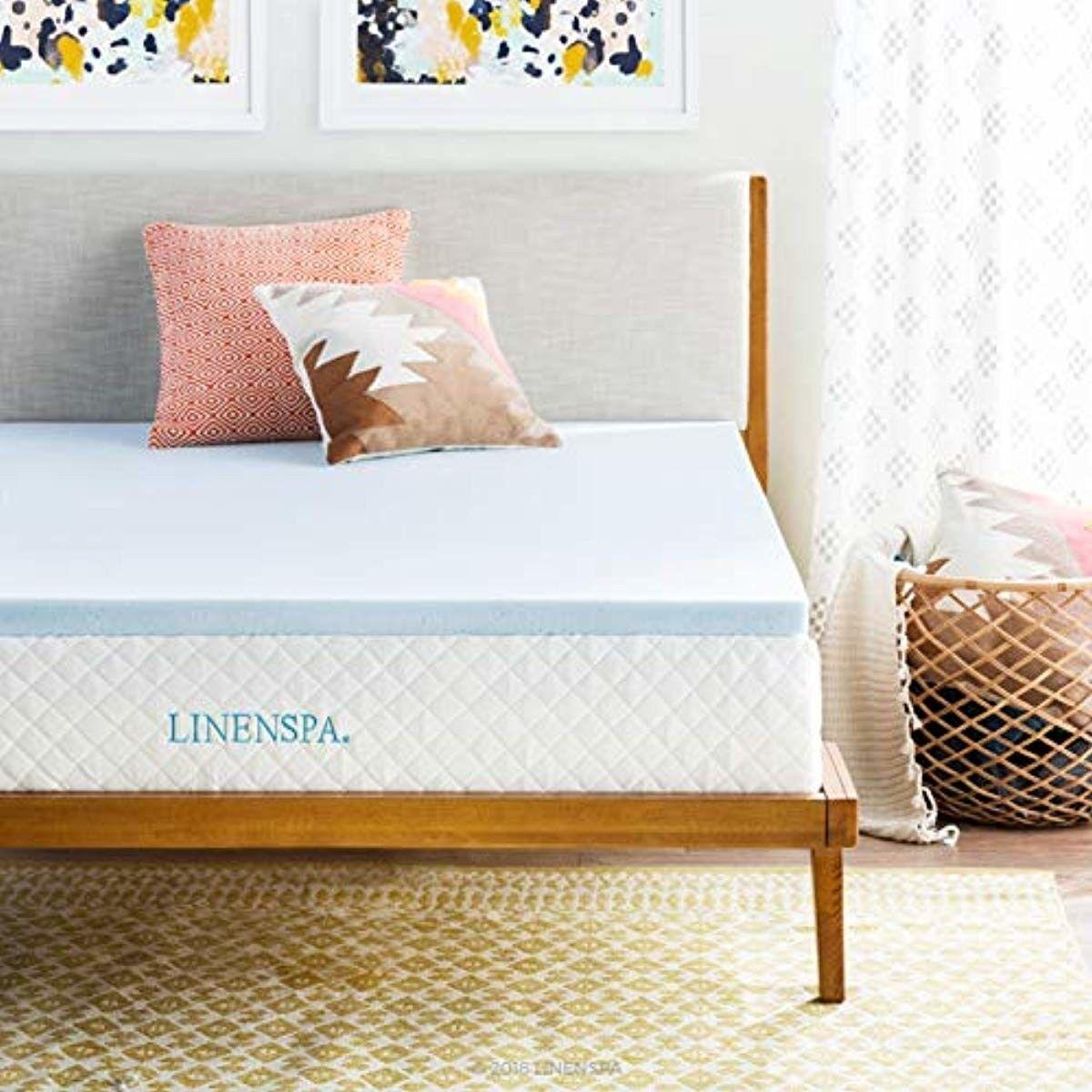 gel infused memory foam mattress topper 2