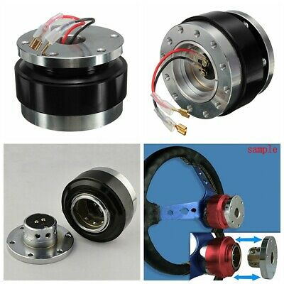 "Gmc Push Button Slim 1.5/"" Thin Quick Release Wheel Adapter Hub Steering Gunmetal"