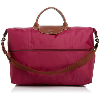 Longchamp Le Pliage Expandable Travel Duffle Weekender 1911089 DAHLIA