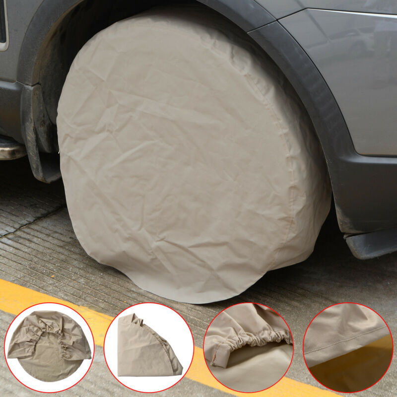 Set of 4 RV Wheel Tire Covers Auto Truck Car Camper Trailer 28 Diameter