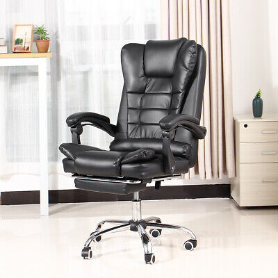 Executive Computer Office Chair 135 Lying Recliner Swivel Gaming Seat Leather