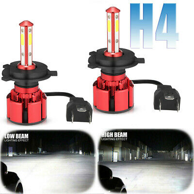 4-Sides CREE H4 9003 375000LM 2500W LED Headlight Kit Hi/Lo Beam Bulbs 6000K