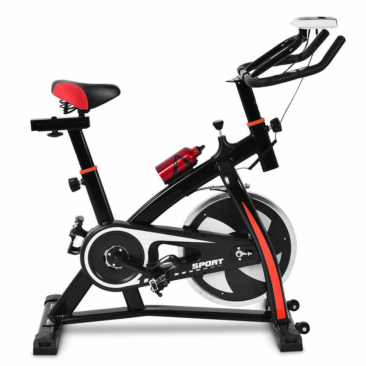 Indoor Exercise Bike Stationary Bicycle With LCD Monitor For