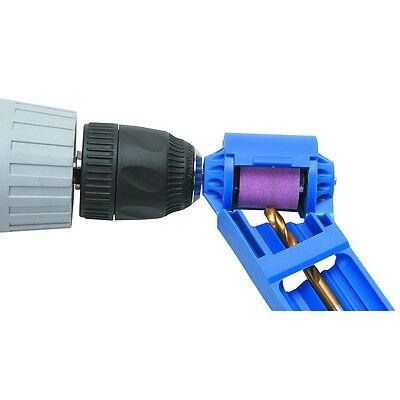 "Drill Bit Sharpener 5/64"" to 1/2 Bits, Titanium Portable Drill Powered Tool"