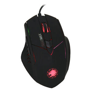 Game Max Tornado Wired 6 button 7 LED Red/Blue/Green/Purple Gaming Mouse