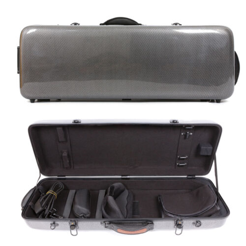 Yinfente Adjustable Hard Viola Case 15-17inch Carbon Fiber Composite