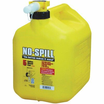5-gallon No-spill Yellow Poly Plastic Diesel Fuel Can - Brand New