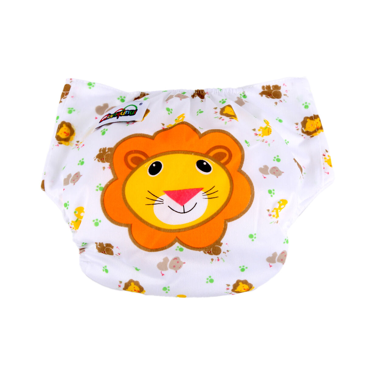5pcs+ 5INSERT Lovely printing Adjustable Reusable Washable Cloth Diaper Nappies  Lion