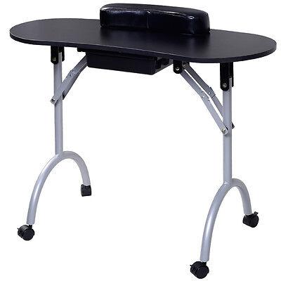Professional Manicure Nail Hand Table Portable Salon Folding Desk W/ Carry Bag