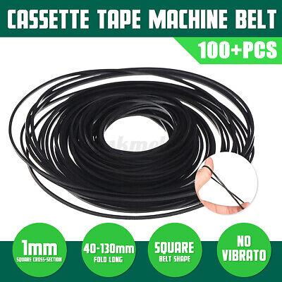 100PCS 40-130mm Mix Cassette Tape Machine Belt Assorted Common Universal USA