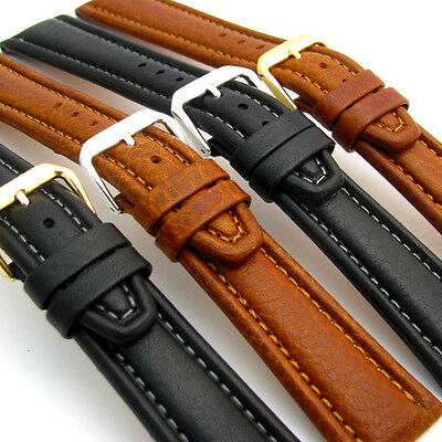 (CONDOR Luxurious Padded Calf Leather Watch Strap Band 18mm 20mm 22mm 24mm 062R)