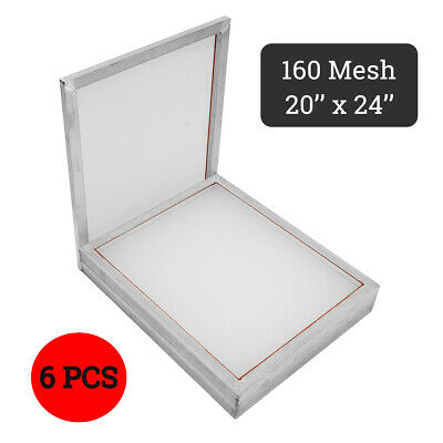 6 Pack 20 X 24 Aluminum Silk Screen Printing Press Frame Screens 160 Mesh Us