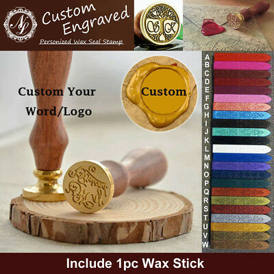 Custom Made Your Design Logo Wedding Invitations Wax Seal Stamp + 1 Wax - Custom Made Invitations