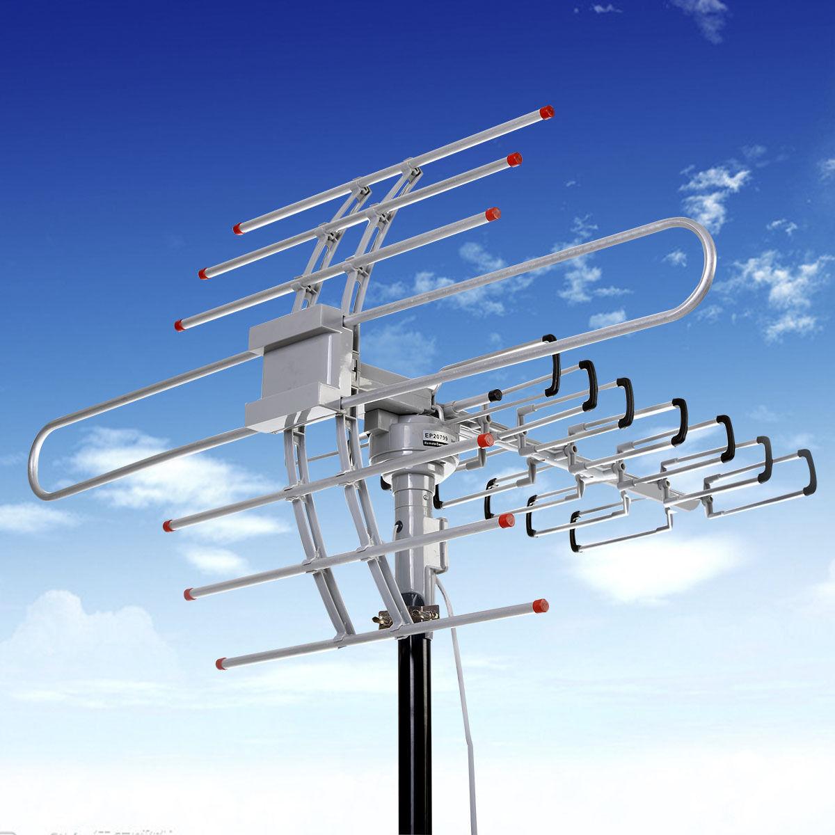180 miles hdtv outdoor amplified antenna hd tv directional - Antena tv exterior ...