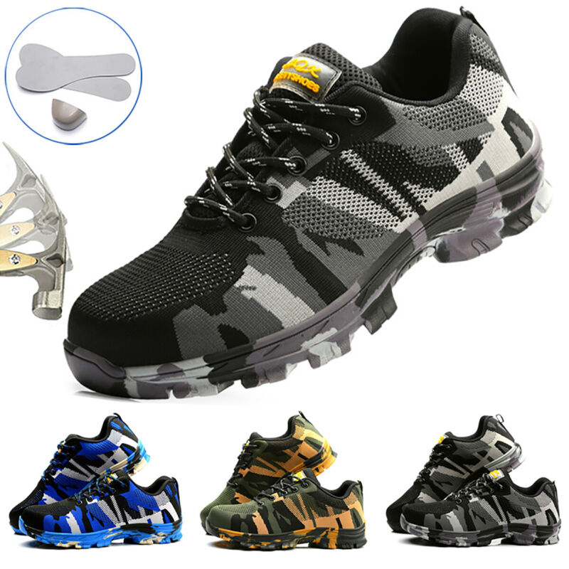 Mens Work Boots Safety Shoes Lightweight Boots Steel Toe Trainers Hiking Shoes