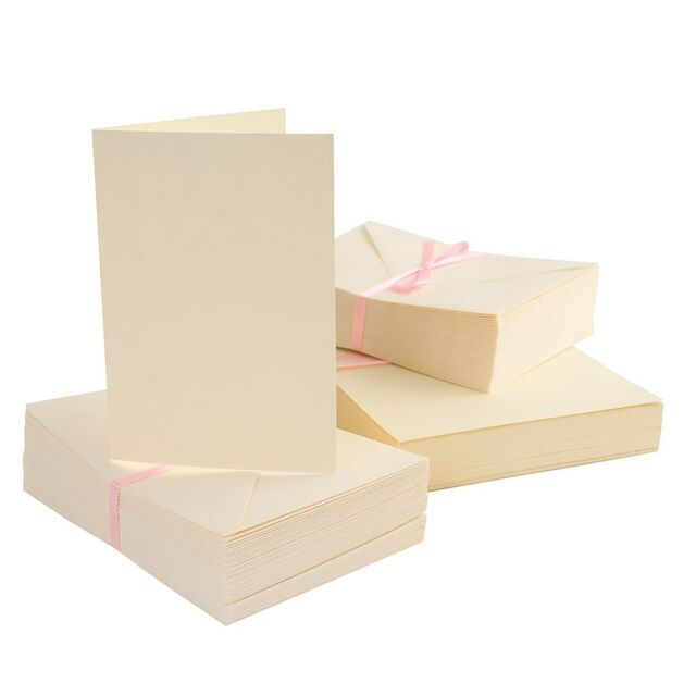 A6 Card with Envelope Pack of 100 Cream Anita's ANT 1511001