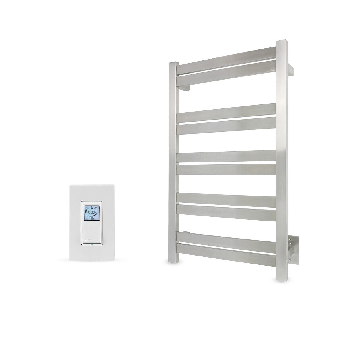 towel warmer brushed 10 bars with programmable