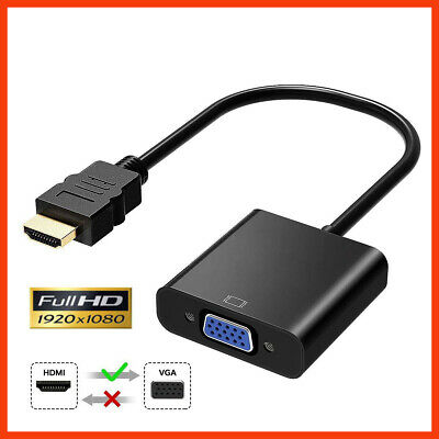 HDMI Male to VGA Female Adapter Converter Cable 1080p HD TV PC laptop Projector