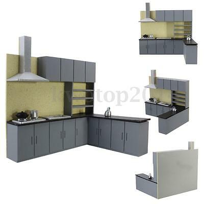 Miniature Kitchen Cabinet Set Model Kit Furniture for Art Dollhouse 1:25 Scale
