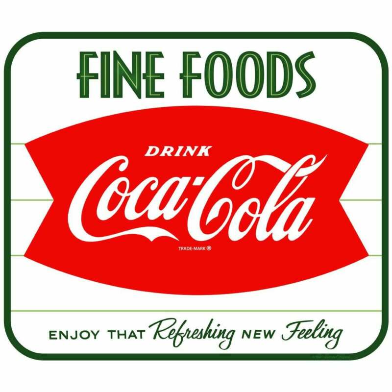 Coca-Cola Fine Foods Fishtail Decal Peel & Stick Wall Graphic