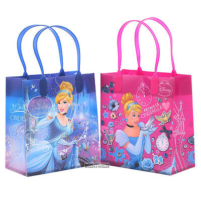 Small Reusable Bags (Disney Cinderella Authentic Licensed Reusable Small Party Favor Goodie 12 Bags)
