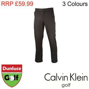 CALVIN KLEIN TECH STRAIGHT LEG GOLF TROUSER- 3 COLOURS WIND PROOF- MENS WATER
