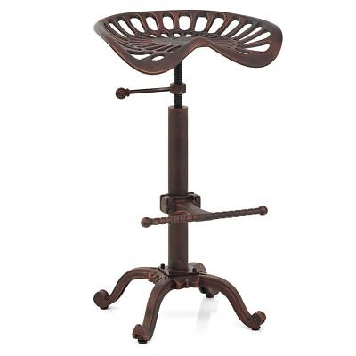 Industrial Bar Stool Swivel Tractor Seat Saddle Chair Height Adjustable 19-25