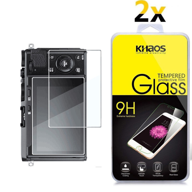 2-Pack Khaos For Panasonic LX9 LX10 G8 G7 Tempered Glass Screen Protector