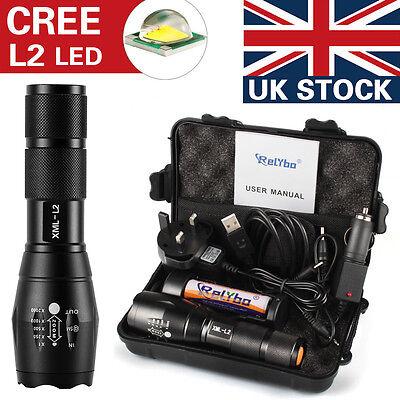 X800 Shadowhawk 6000lm Tactical Flashlight CREE L2 LED Military Light Gift Kit