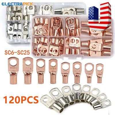 Assorted Car Auto Copper Ring Lug Terminals Wire Bare Cable Crimp Connectors Kit