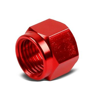 1Pcs -6AN Fitting Female Cap block off nut Red New Brand