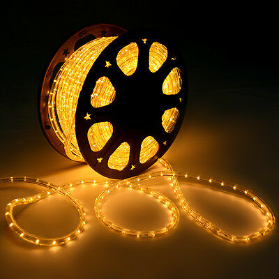 150' LED Secure Be discovered 2 Wire Christmas Decorative Body In/Out of doors 110V Become excited Ivory