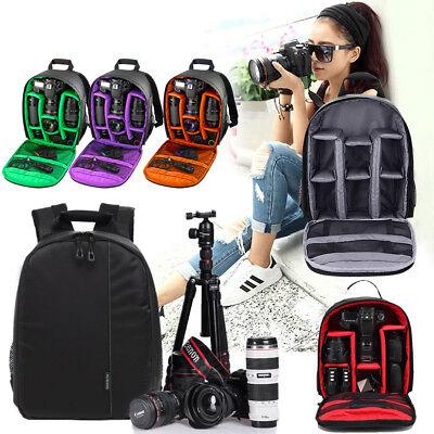 Multi-function Large Camera Shoulder Backpack Bag Case For Canon Nikon Sony DSLR
