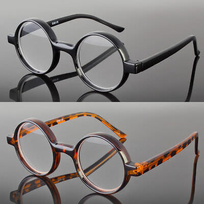 New Black Tortoise Round Oval Reading Glasses Readers John Lenon Harry Potter - Lenon Glasses