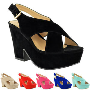 LADIES-WOMENS-HIGH-MID-HEEL-PLATFORM-FLATFORM-WEDGES-SHOES-PEEP-TOE-SANDALS-SIZE