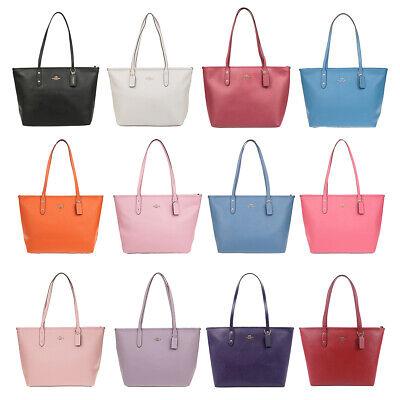 Coach (F58846) Crossgrain Leather City Zip Tote Handbag