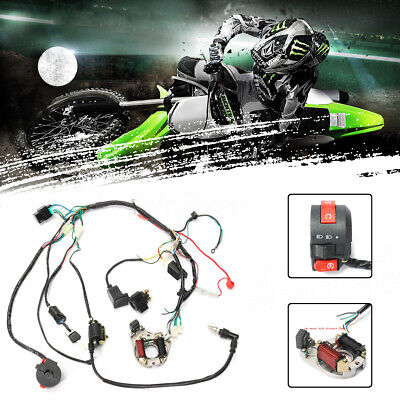 CDI Wire Harness Wiring Loom Coil Rectifier For 50 70cc 90cc 110cc ATV Quad  =
