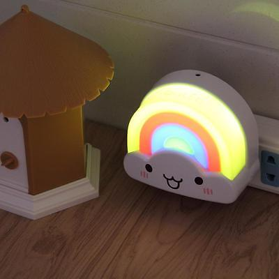 Mini LED Night Light Rainbow Toddler Nightlight for Kids Baby Bedroom & Sensor