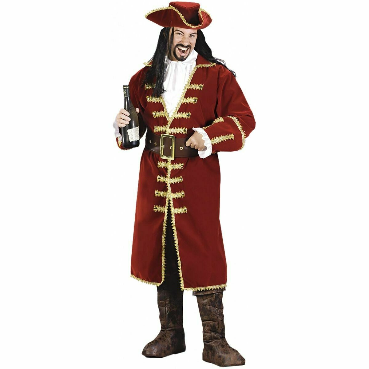 swashbuckler  black leather hat pirate feather costume cosplay reenactment