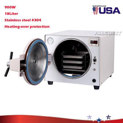 18l Autoclave Steam Sterilizer Medical Sterilizition Dental Lab Equipment 900w