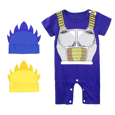 Baby Boy Dragon Ball Z Costume Romper Newborn Playsuit Set Infant Vegeta Outfit