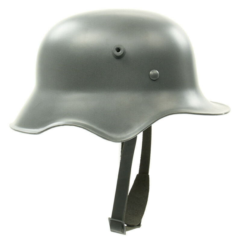 German WWI M18 Steel Helmet with Leather Liner, M-1918